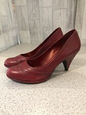 Bronx So Today Red Leather Court Shoes Uk5