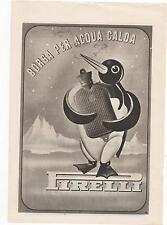 Pubblicità epoca 1941 BORSA ACQUA CALDA PIRELLI advert werbung publicitè reklame