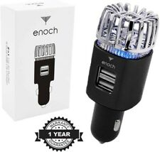 ENOCH Car Air Purifier Dual USB Quick Charge Ports Ionizer Freshener Deodorizer
