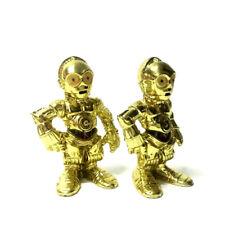 "Lot 2Pcs Playskool Star Wars Galactic Heroes Jedi Force C-3PO 2.5"" figure toys"