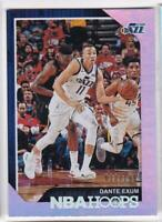2018-19 Panini NBA Hoops #/199 Dante Exum Utah Jazz Basketball Card