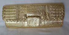 Women's Ladies High Quality Gold Evening Prom Ocassion Party Clutch Bag