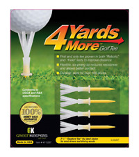 Greenkeepers 4 Yards More golf tees - pack of 4 - yellow - 2 3/4 inches - 70mm