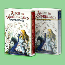 Alice In Wonderland Playing Cards, 54 Illustrations by Lewis Carroll - 2 PACK
