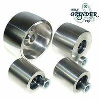 """Belt Grinder 2""""x72"""" wheel set knife grinder 4"""" Drive 5/8"""" bore 3"""" track 2"""" Idler"""