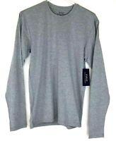 Polo Ralph Lauren Mens Size M Performance Long Sleeve Crew Neck T Shirt Gray Nwt