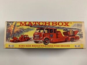 Coche Matchbox King Siza K-15 Merryweather Fire Engine