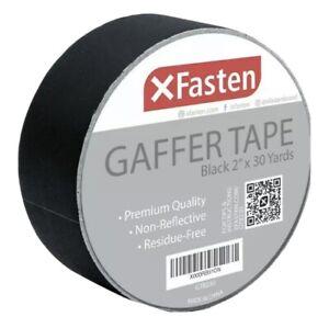 XFasten Black Gaffer Tape Black, 2 Inch X 30 Yards