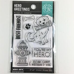 Hero Arts Greetings You're My Hero Clear Stamp Set Dog Hydrant Phrases Sayings