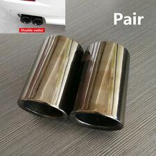 For BMW F10 528i F30 316i 318i 320i 328i Car Exhaust Muffler Pipe Titanium Black