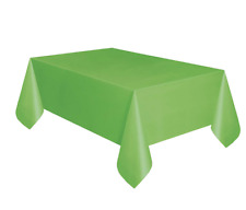 Plastic Tablecover 54x108 Rectangle (Lime Green)- Reusable, Waterproof, Washable