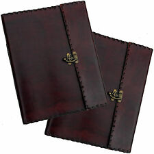 """13"""" Real Leather Handmade Vintage Photo Album Wedding with Stitch & Clasp Detail"""