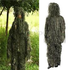 5Pcs Adults Woodland Yowie Camo/Camouflage 3D Ghillie Suit Hide Hunting Shooting