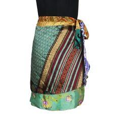 Women's Vintage Wrap Around Sari Short Skirts SWS362