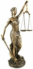 "Greek Lady Blind Scale of Justice Bronze Statue 12"" Law Lawyer Gift Unique NEW"