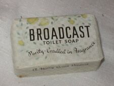 Vintage Broadcast Bar Soap Paper Wrapper,England Unused 1930s