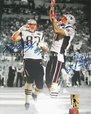 AARON HERNANDEZ AND ROB GRONKOWSKI SIGNED AUTOGRAPH 8X10 RPNT PHOTO NE PATRIOTS