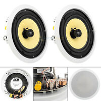 "8"" In Ceiling Speaker Home Theater 75W RMS 8 Ohm 2-Way Audio DCM TD820C 2 Pack"