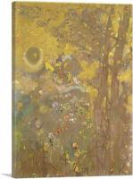 ARTCANVAS Trees on a Yellow Background Canvas Art Print by Odilon Redon