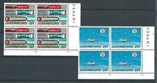 LUXEMBOURG 1988 TRANSPORT PAIR AIRCRAFT MNH BLOCK 4 NICE CATGB£13.60