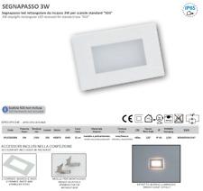 SEGNAPASSO LED PER SCATOLA 503 IP65 CON CORNICE BIANCA INOX 230V 3000K LAMPO