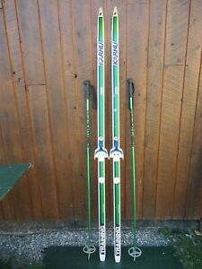 "Ready to Use Cross Country 75"" Long KARHU 195 cm Skis +  Poles"