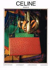 PUBLICITE ADVERTISING 074  1989  CELINE  maroquinerie de luxe sacs