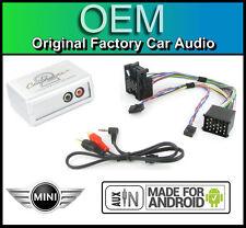 BMW Mini Cooper AUX Lead Stereo Auto Smartphone Android Player Adattatore di connessione