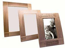 Personalised Grandad & Me Wooden Oak Portrait Photo Frame, Engraved Gift