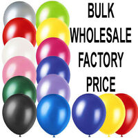 "100 LARGE PLAIN 10"" BALLOONS BALLONS helium BALLOONS Quality Bday Wedding BALOON"