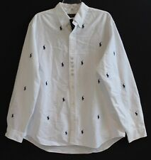 Polo Ralph Lauren Big and Tall Mens White Polo Pony Button-Front Shirt NWT XLT