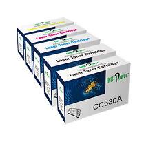 5 Non OEM Toner Cartridges For HP CC530A CC531A CC532A CC533A CM2320 CM2320N
