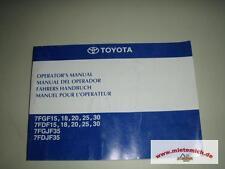 Conductor manual de carretillas elevadoras toyota 7fgf15,18,20,25,30,7fdf15,18,20,25,30,und