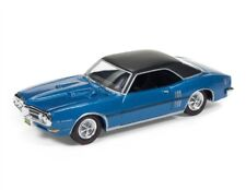 1/64 RACING CHAMPIONS 5B6 1968 Pontiac Firebird (Blue with Black Vinyl Top & Bla