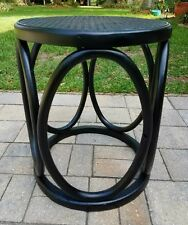 Ottoman footstool table Thonet Bentwood  Rattan Cane mid-century vintage