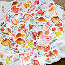 46pc Colorful Small Mushroom DIY Decorative Adhesive Stickers Paper Scrapbooking