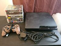 Sony PlayStation 3 Slim Console 320GB + 10 Games + 1 Controller Bundle PS3