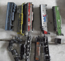 Lot of Vintage HO Scale Worn Locomotive Bodies and Engine Parts Look