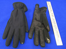 NOS Isotoner Smart Touch Black Gloves Phone Screens Pointer Thumb Grip Palms M/L
