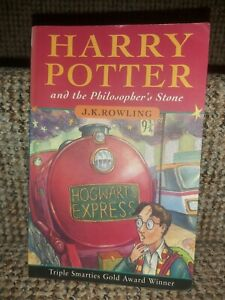 FIRST EDITION HARRY POTTER AND THE PHILOSOPHER'S STONE by ROWLING 1st/56th PB