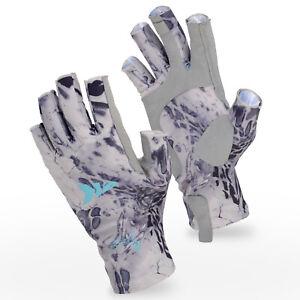 KastKing Sol Armis Gloves UPF50 Sun Fish Fingerless Gloves for Men&Women NEW