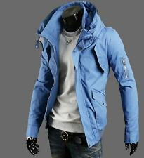 New men's casual jacket washed Fashion Hooded Jacket S-6XL