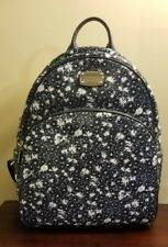 NEW $278 Michael Kors Abbey Large Backpack Rare Blue Floral Signature Backpack