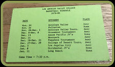 1979-80 LOS ANGELES VALLEY COLLEGE MONARCHS BASKETBALL POCKET SCHEDULE