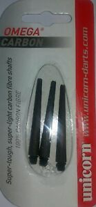 Unicorn Omega Carbon carded darts stems. rrp  £6-95