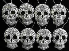 8 gothic black & white Christmas tree Sugar skull decorations/ ornaments