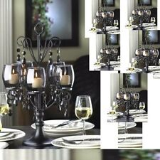 "Lot 6 Black Candelabra 17.5"" Tall Candle Holder Wedding Centerpieces"