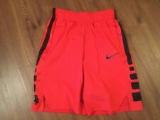 Nike Boys Dri-Fit Red w/ Blk Athletic Basketball Shorts ~ Sz L Large ~ Euc
