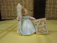 Vintage Josef Originals #1 Birthday Girl Angel Figurine Black Eyes Japan