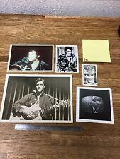 Lot Of 5 Vintage Elvis Presley Fan Club Photos- 1a